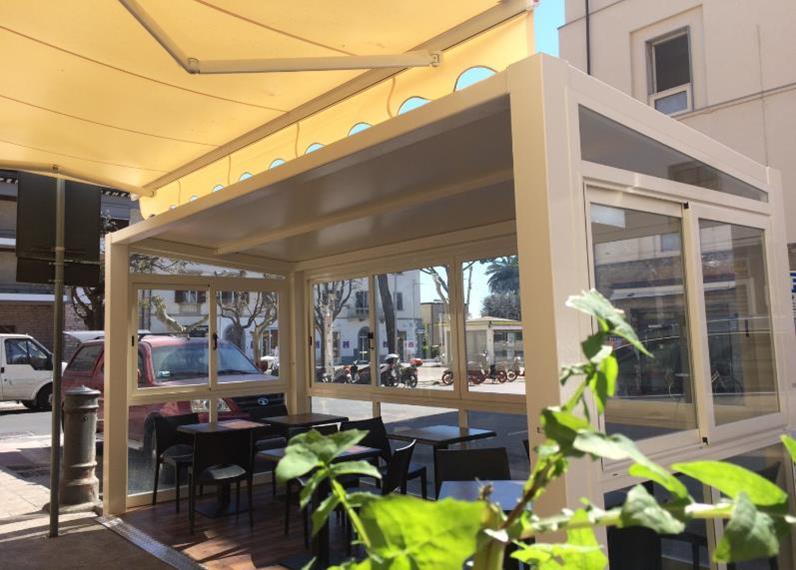multipergola chiusura laterale settore ristorazione