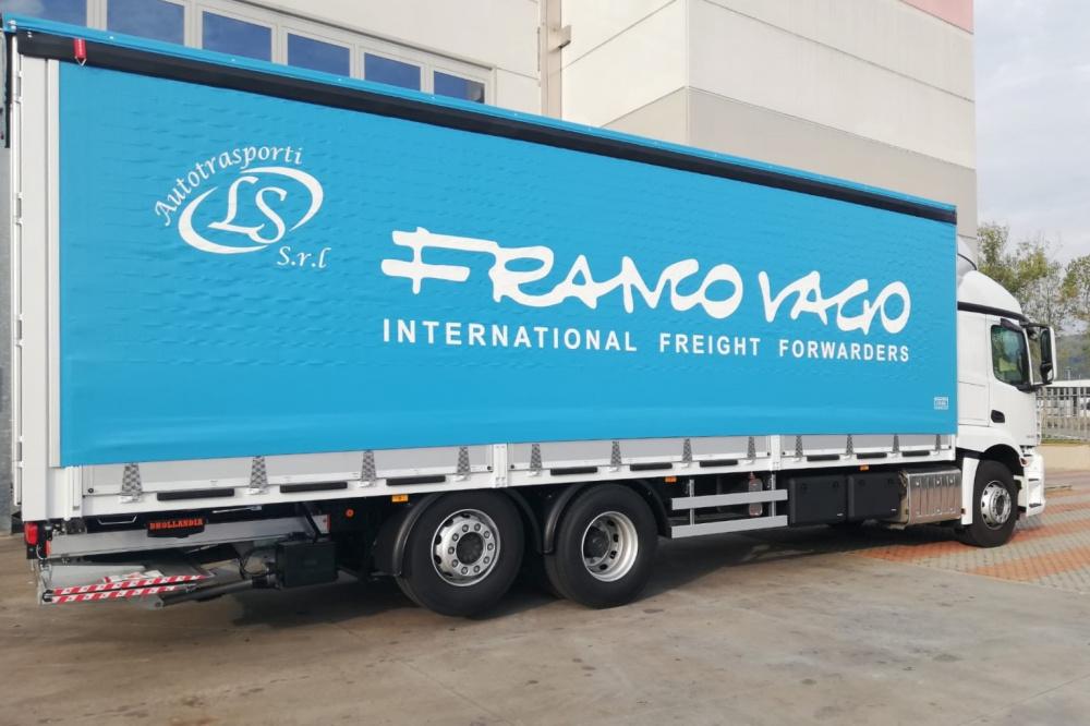 telone camion personalizzato blu