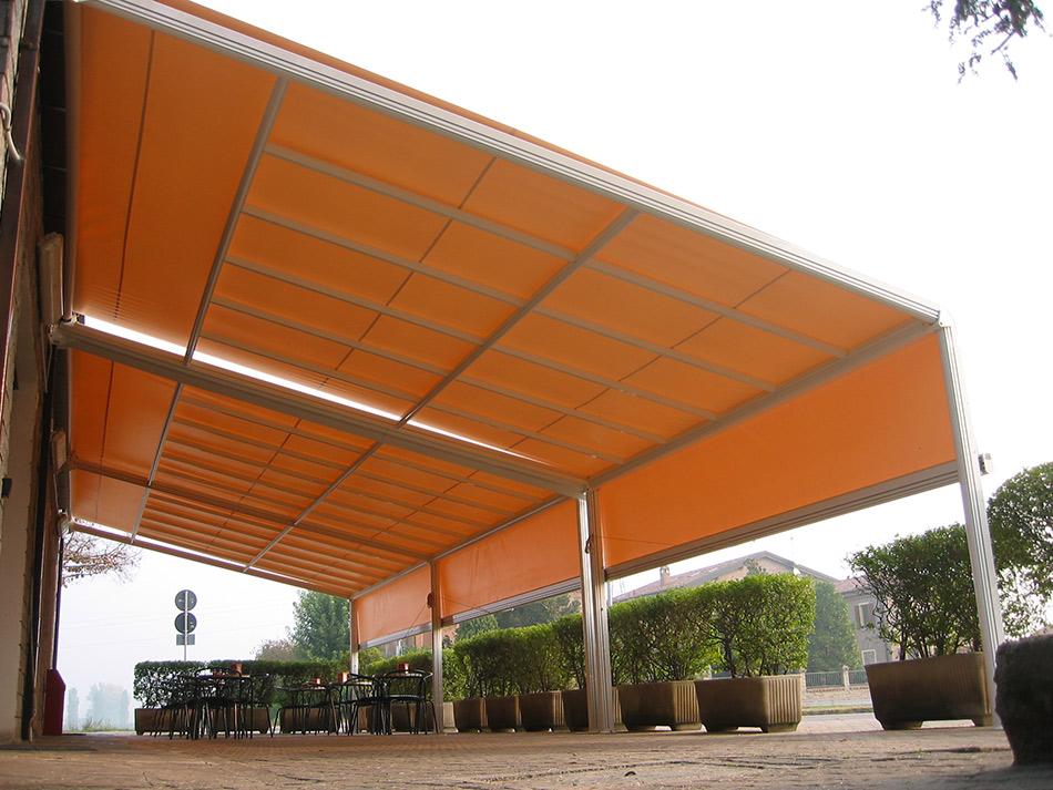 tenda sole struttura fissa regolabile